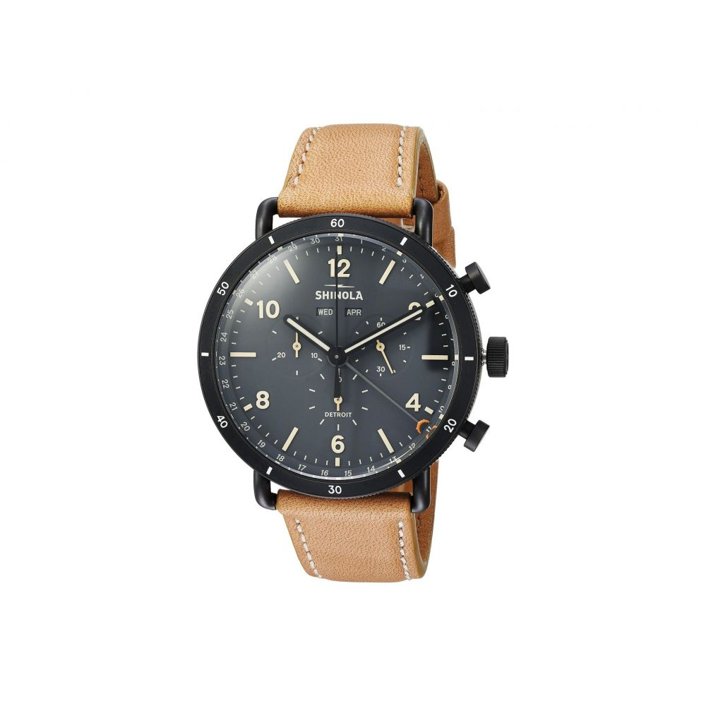 シャイノーラ Shinola Detroit メンズ 腕時計【The Canfield Sport Chronograph Calendar 45mm - 20089891】Natural Leather Strap/Cool Gray Dial