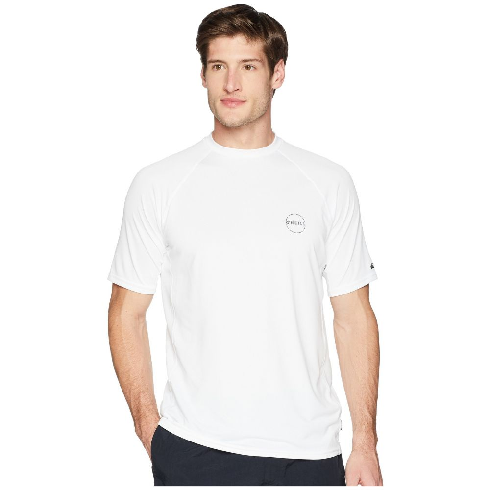 オニール O'Neill メンズ 水着・ビーチウェア ラッシュガード【24-7 Traveller Short Sleeve Sun Shirt】White
