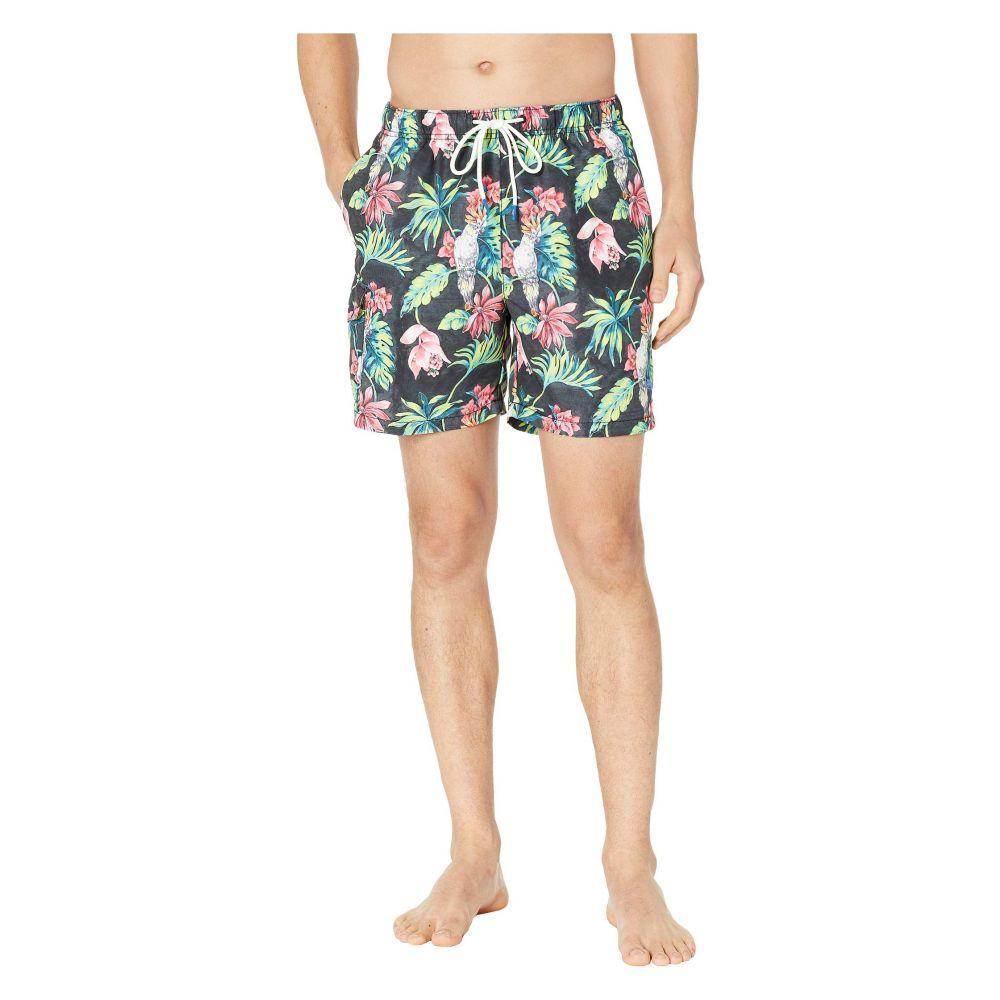 トミー バハマ Tommy Bahama メンズ 水着・ビーチウェア 海パン【Naples Tahitian Tweets Swim Trunks】Black