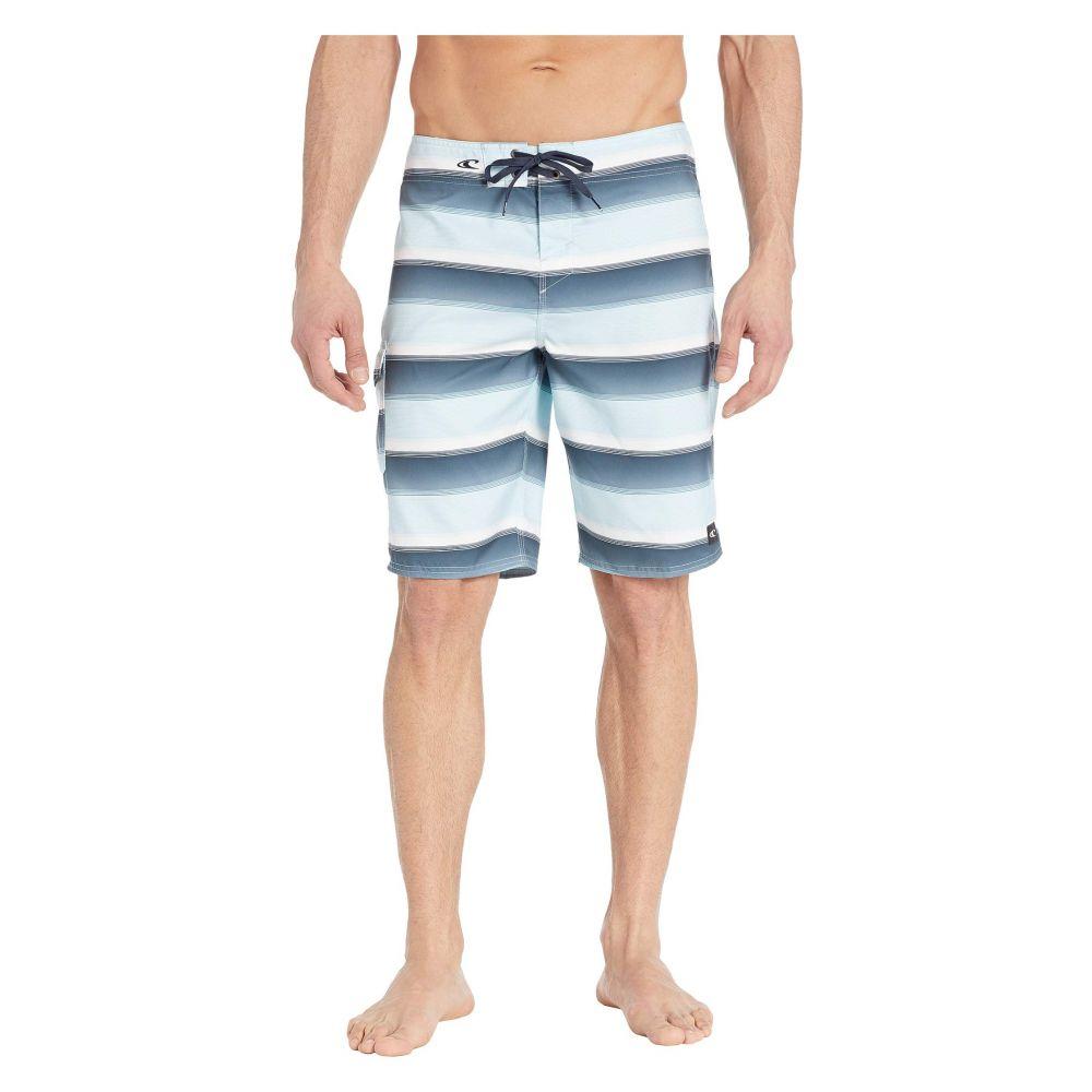 オニール O'Neill メンズ 水着・ビーチウェア 海パン【Santa Cruz Stripe Boardshorts】Air Blue