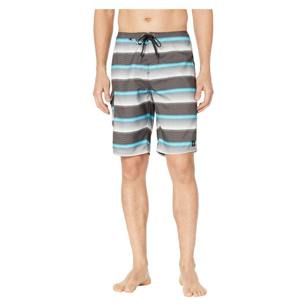 オニール O'Neill メンズ 水着・ビーチウェア 海パン【Santa Cruz Stripe Boardshorts】Black