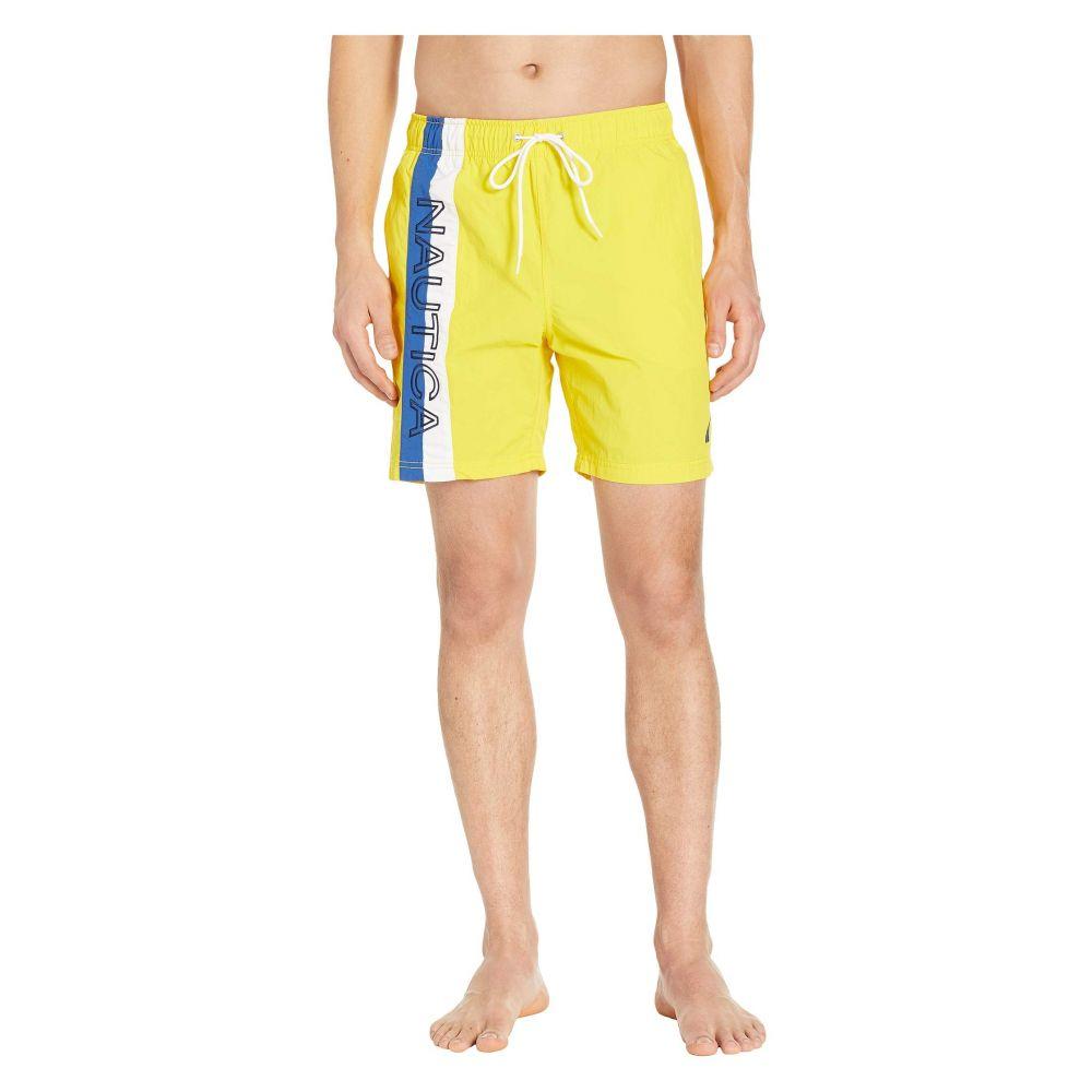 ノーティカ Nautica メンズ 水着・ビーチウェア 海パン【Surf Washed Color Block Swim Trunks】Zest