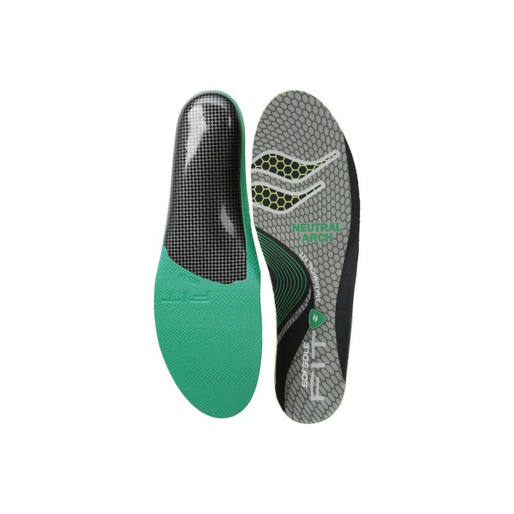 ソフソール Sof Sole メンズ シューズ・靴 インソール・靴関連用品【Fit Series Neutral Arch Insole】Black/Green