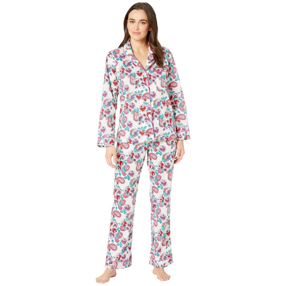 ベッドヘッド BedHead Pajamas レディース インナー・下着 パジャマ・上下セット【Long Sleeve Classic Notch Collar Pajama Set】Eastern Roses/White Ground