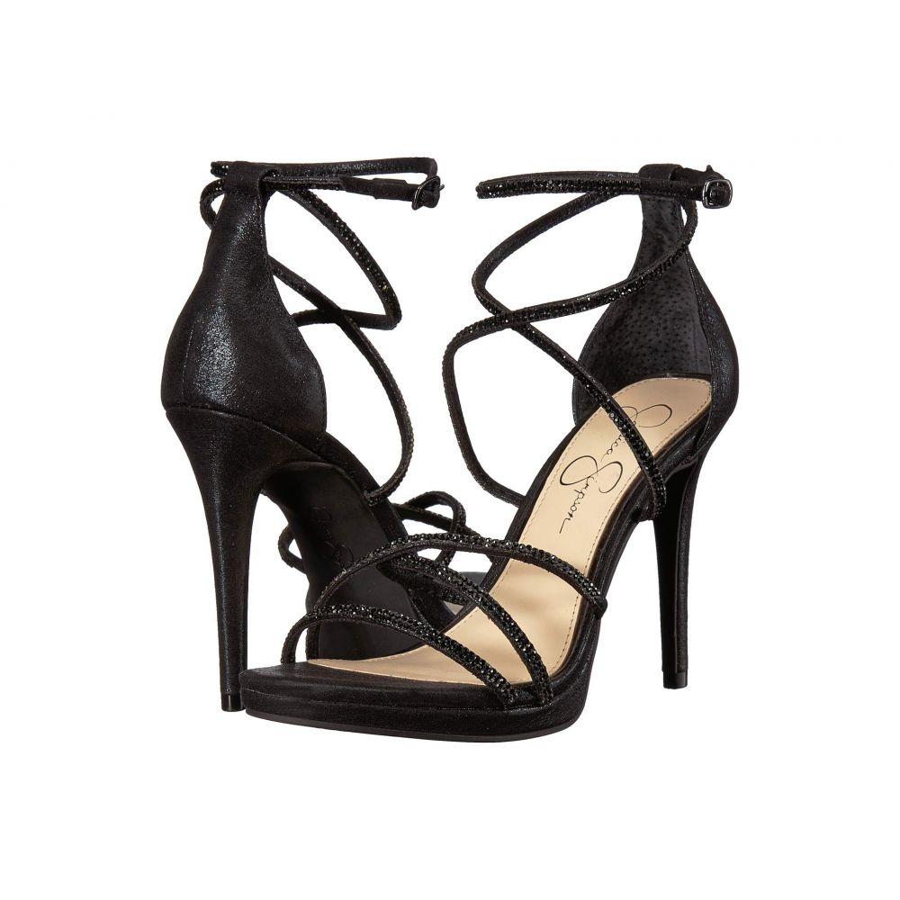 ジェシカシンプソン Jessica Simpson レディース シューズ・靴 サンダル・ミュール【Jaeya】Black Shimmer Sand Fabric