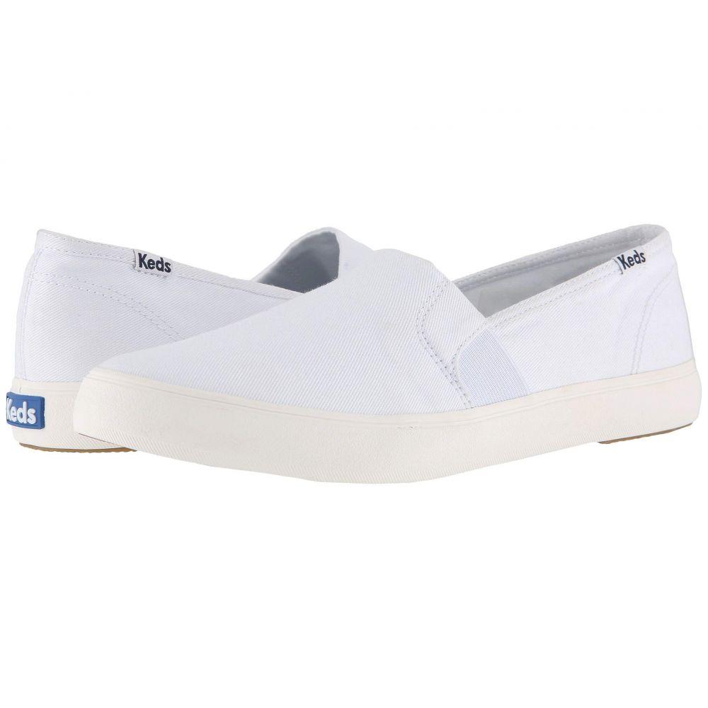 ケッズ Keds レディース シューズ・靴 スニーカー【Clipper Washed Solids】White
