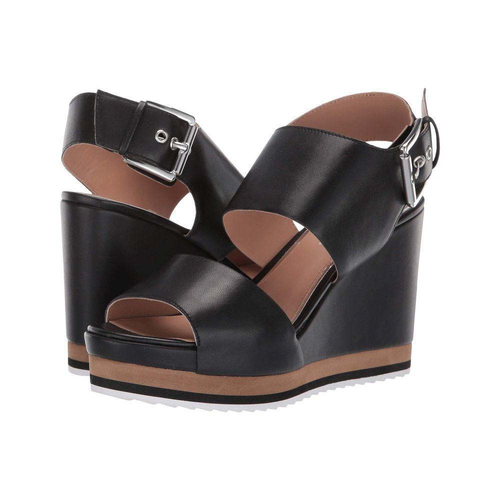 リネアパウロ LINEA Paolo レディース シューズ・靴 サンダル・ミュール【Erika Wedge Sandal】Black Nappa Leather