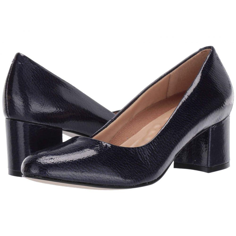 ウォーキング クレードル Walking Cradles レディース シューズ・靴 パンプス【Jessica】Navy Tumbled Patent