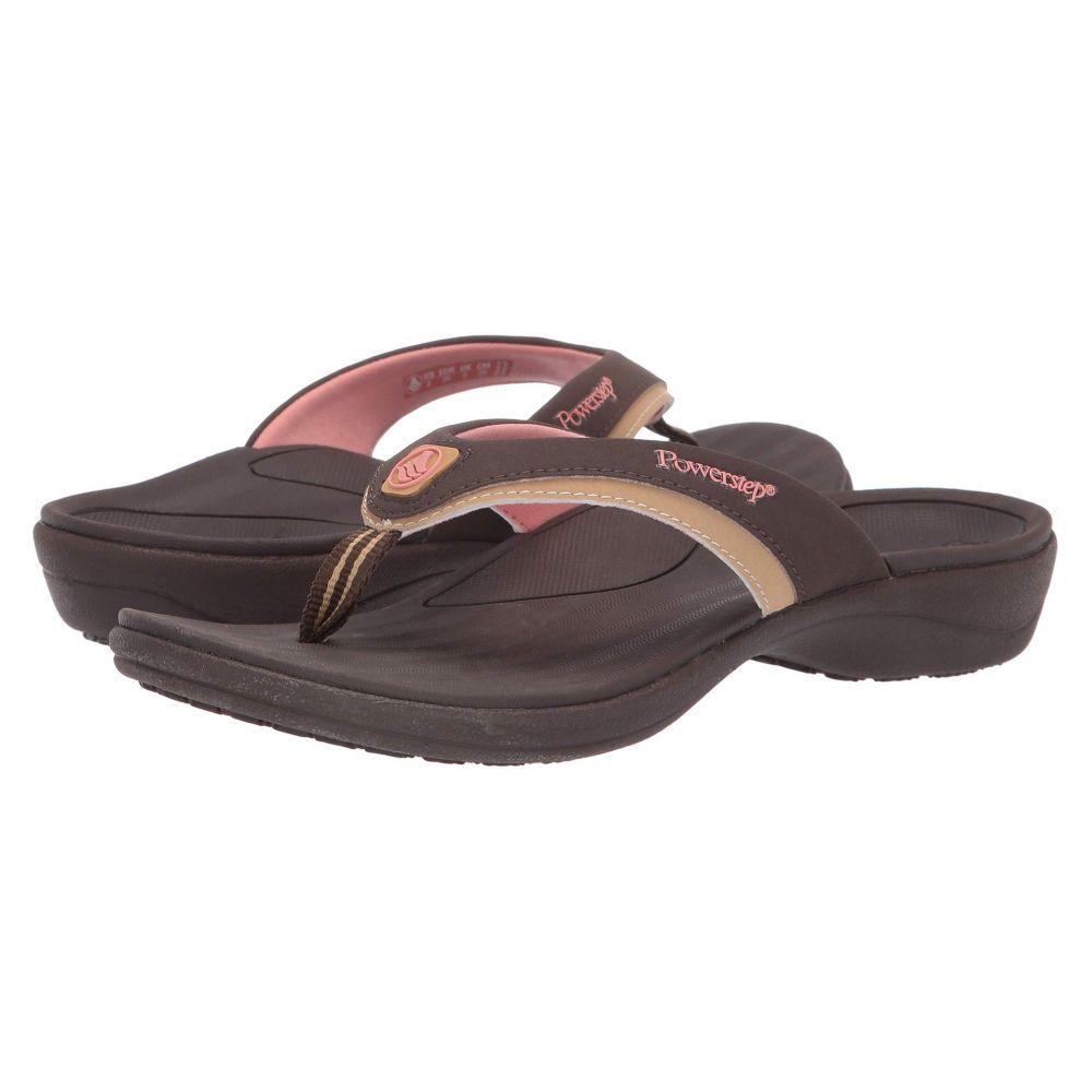 パワーステップ Powerstep レディース シューズ・靴 ビーチサンダル【Fusion Sandals】Brown