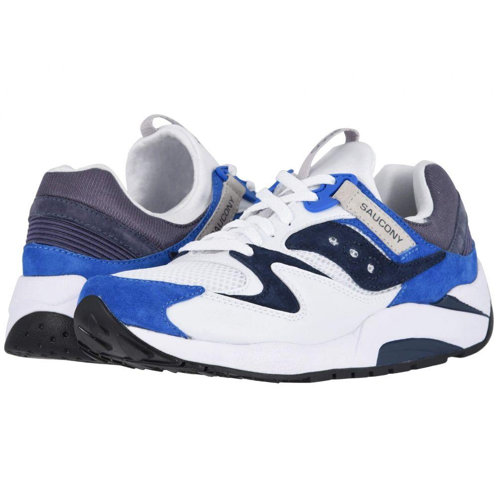 サッカニー Saucony Originals メンズ シューズ・靴 スニーカー【Grid 9000】White/Blue 1
