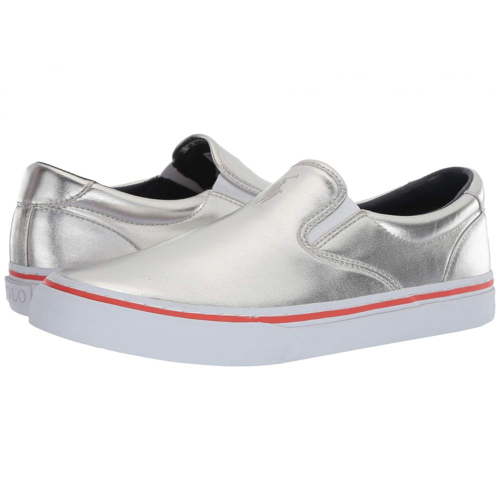 ラルフ ローレン Polo Ralph Lauren メンズ シューズ・靴 スニーカー【Thompson III】Silver Synthetic Metallic Foil