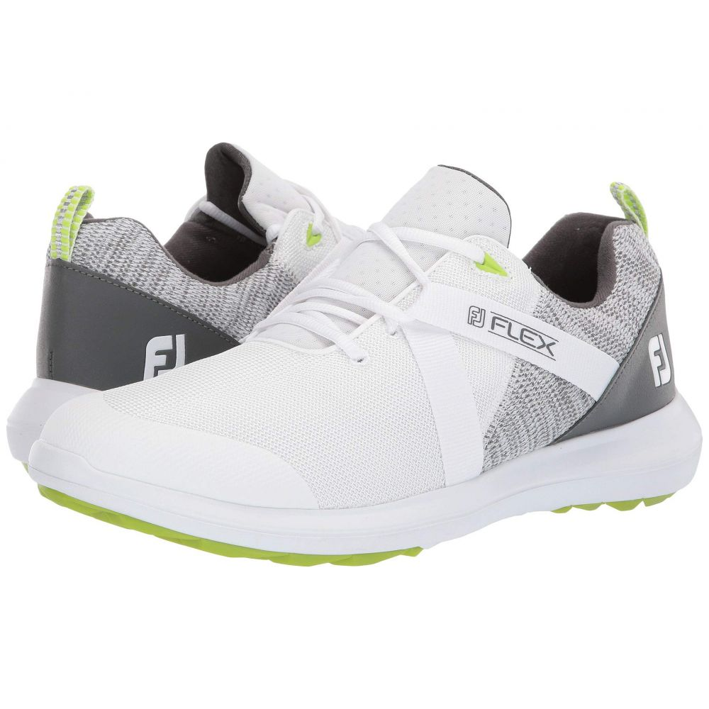フットジョイ FootJoy メンズ シューズ・靴 スニーカー【FJ Flex Spikeless U-Throat Mesh Athletic All Over】White