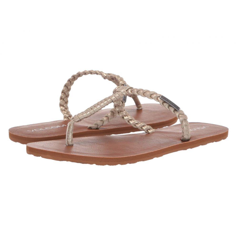 レディース ビーチサンダル【Fishtail Volcom シューズ・靴 Sandals】Gold ボルコム