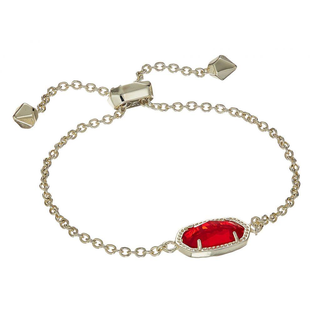 ケンドラ スコット Kendra Scott レディース ジュエリー・アクセサリー ブレスレット【Elaina Birthstone Bracelet】July/Gold/Ruby Red Clear Glass
