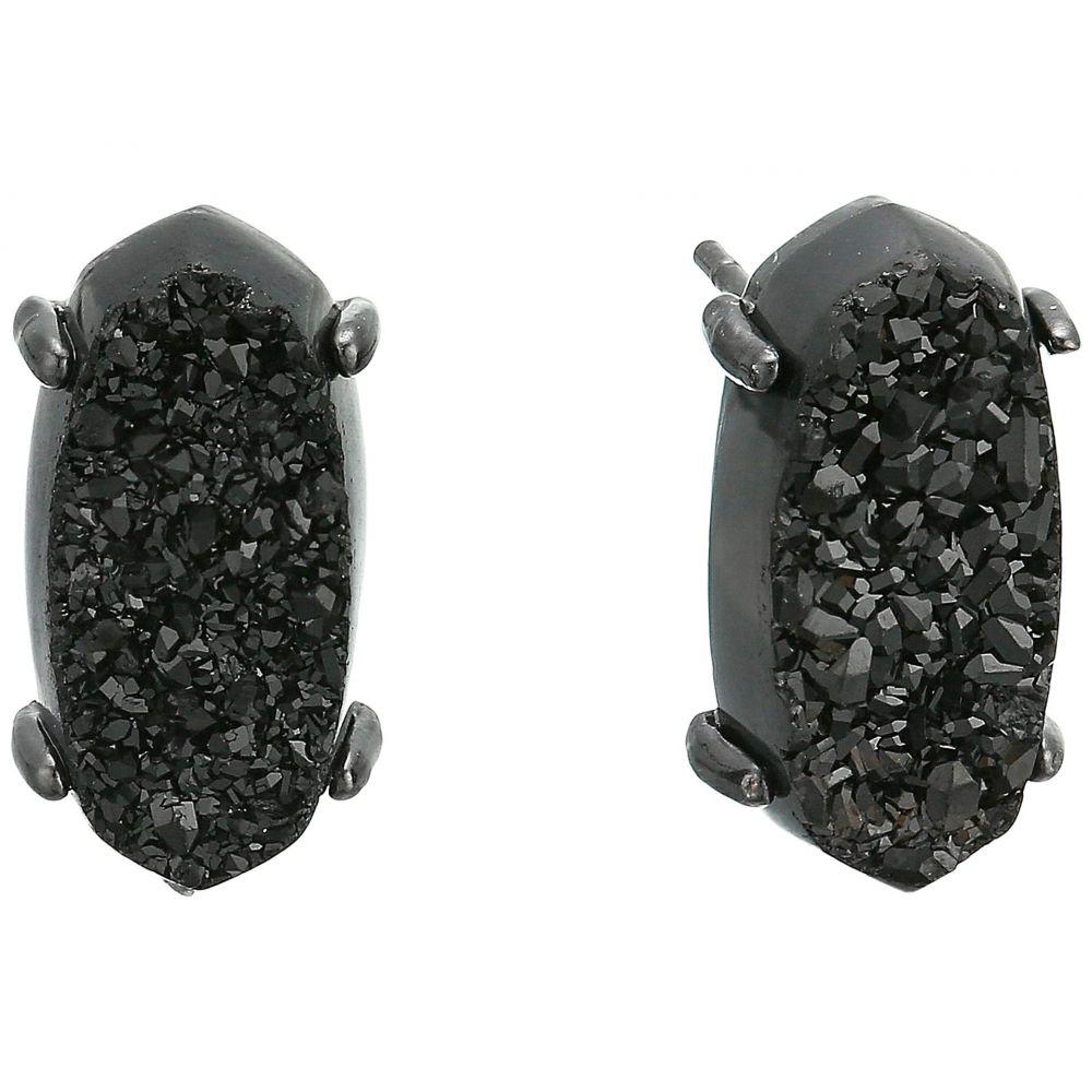 Kendra Scott Betty Gunmetal Stud Earrings in Black Drusy