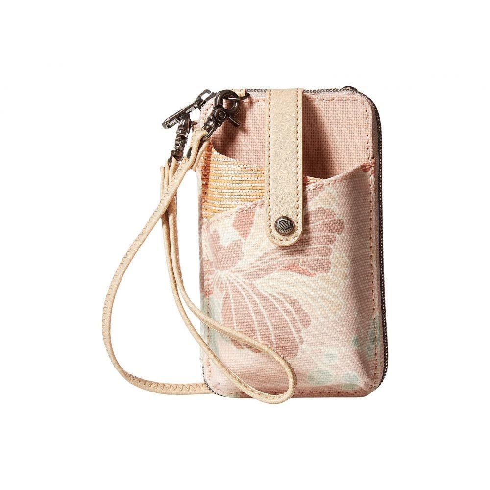 サックルーツ Sakroots レディース スマホケース【Artist Circle Smartphone Wristlet】Petal Pink Flower Blossom