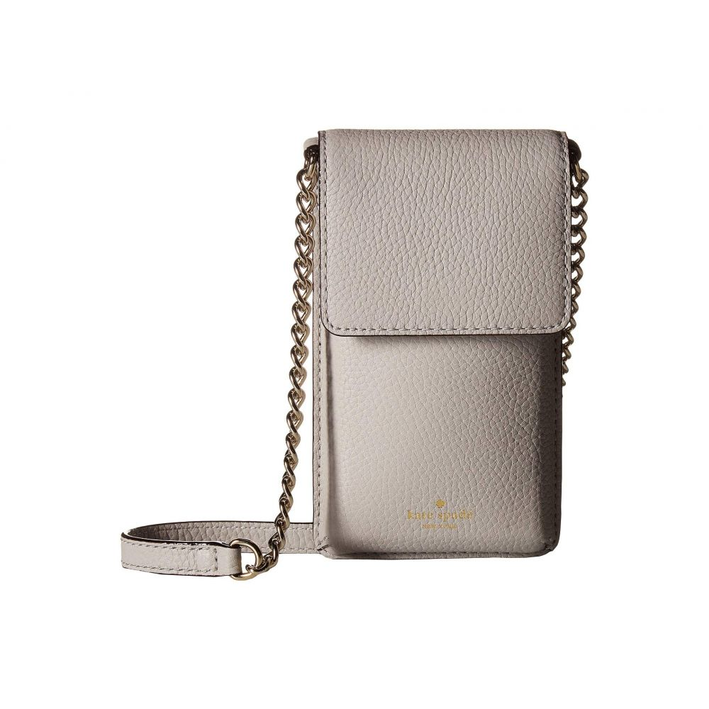ケイト スペード Kate Spade New York レディース スマホケース【North/South Crossbody Phone Case for iPhone 6, 6s, 7, 8】Ash Grey
