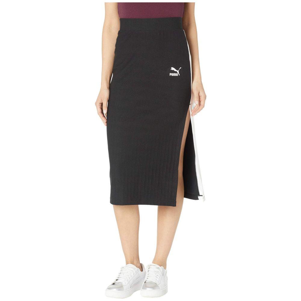 プーマ PUMA レディース スカート【Classics Rib Skirt】PUMA Black