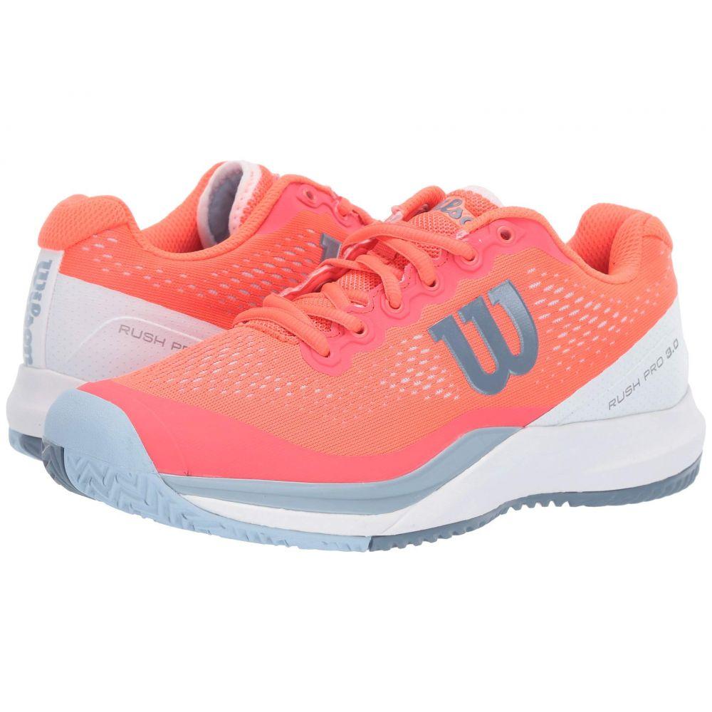 ウィルソン Wilson レディース テニス シューズ・靴【Rush Pro 3.0】Fiery Coral/White/Cashmere Blue