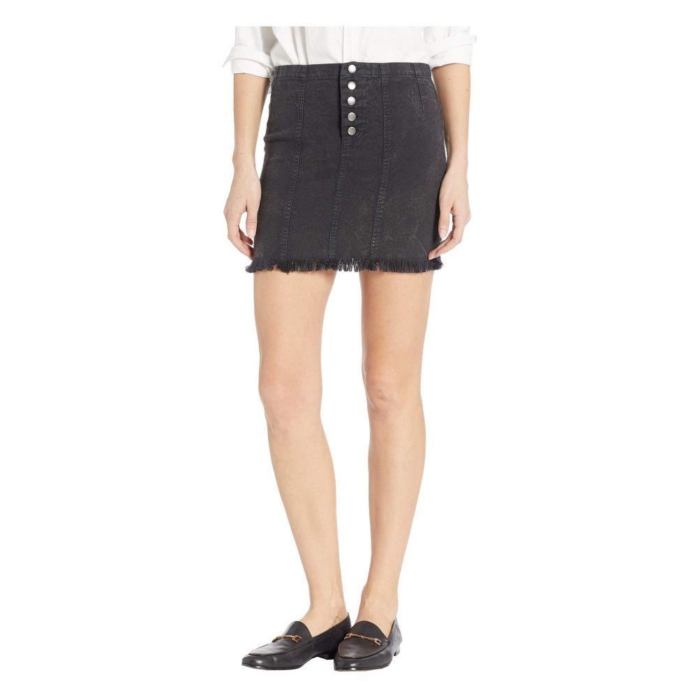 チェイサー Chaser レディース スカート ミニスカート【Vintage Canvas Button Front Mini Skirt】True Black