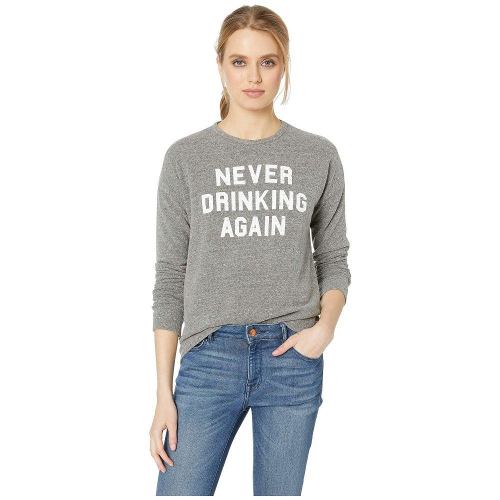 オリジナル レトロ ブランド The Original Retro Brand レディース トップス Tシャツ【Never Drinking Again Super Soft Haaci Pullover】Heather Grey