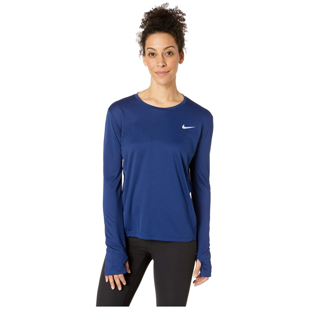 ナイキ Nike レディース トップス【Miler Top Long Sleeve】Blue Void/Reflective Silver