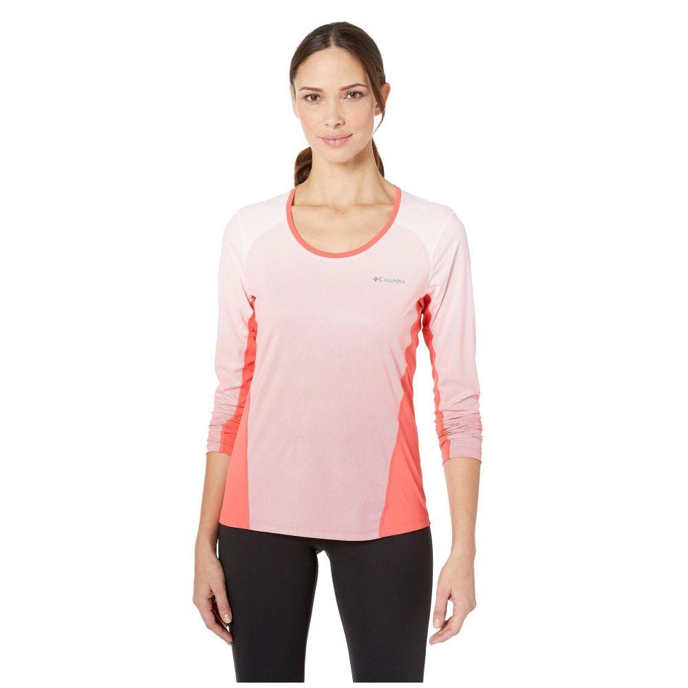 コロンビア Columbia レディース トップス【Solar Chill(TM) 2.0 Long Sleeve Shirt】Red Coral