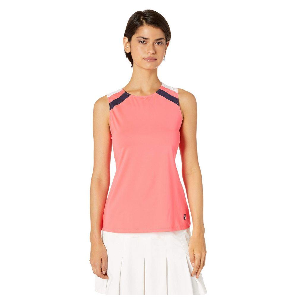 フィラ Fila レディース トップス タンクトップ【Heritage Tennis Full Coverage Tank】Diva Pink/White/Navy