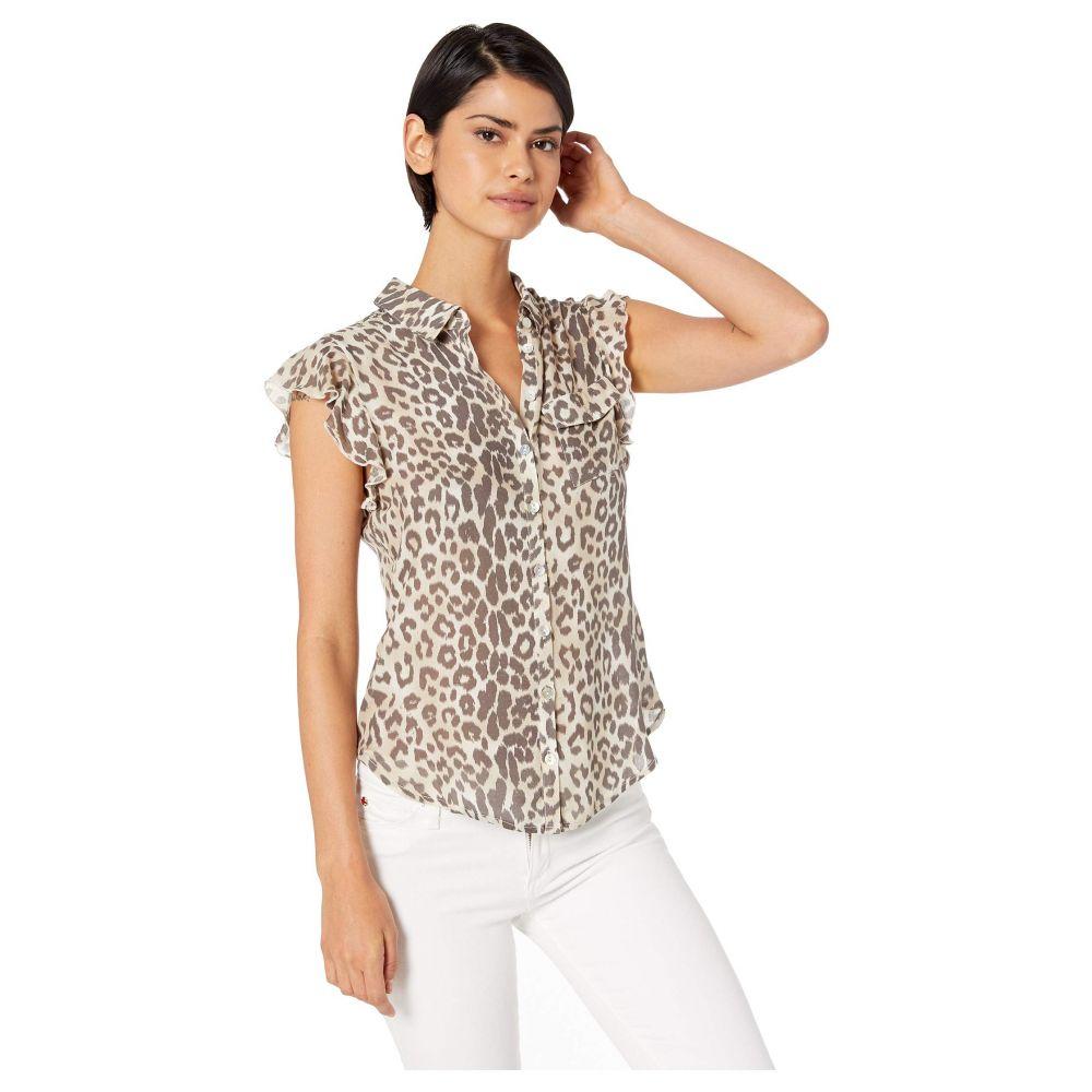 チェイサー Chaser レディース トップス ブラウス・シャツ【Flutter Sleeve Button Down Shirt】Animal Print