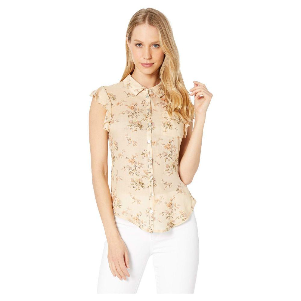 チェイサー Chaser レディース トップス ブラウス・シャツ【Flutter Sleeve Button Down Shirt】Tea Flowers
