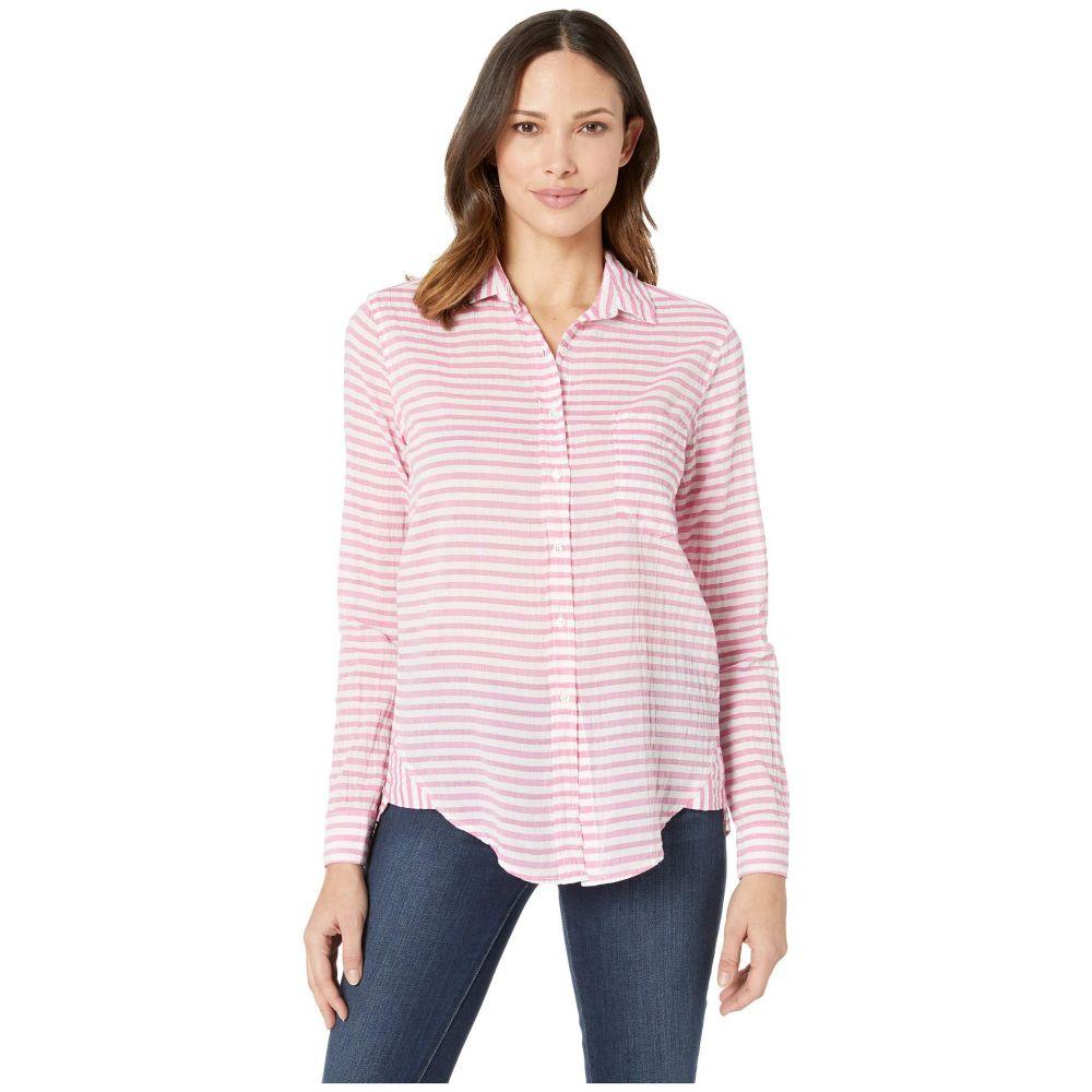 エリオットローレン Elliott Lauren レディース トップス ブラウス・シャツ【In the Pink Stripe Button Front Shirt with Hem Detail】Pink/White