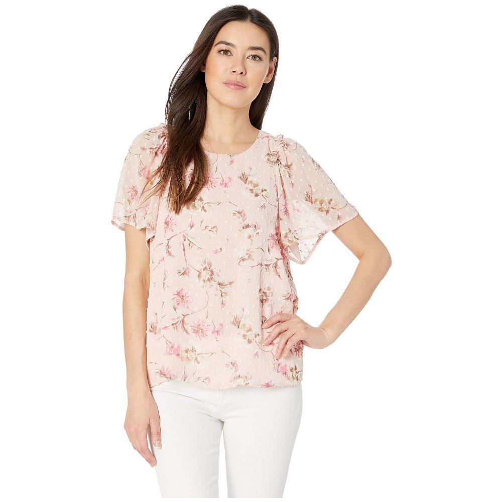 シーシー CeCe レディース トップス ブラウス・シャツ【Extended Flutter Sleeve Duchess Floral Blouse】Secret Blush