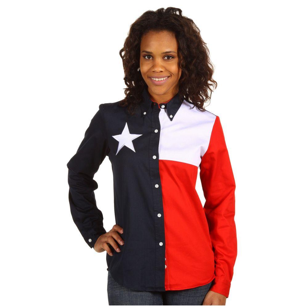 ローパー Roper レディース トップス ブラウス・シャツ【Texas Pieced Flag Shirt】Natural