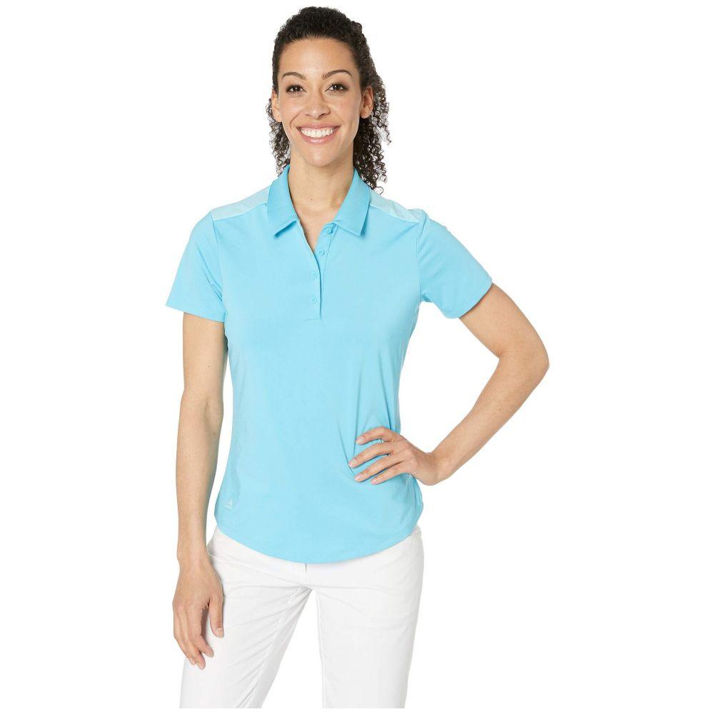 アディダス adidas Golf レディース トップス ポロシャツ【Ultimate Short Sleeve Polo】Bright Cyan
