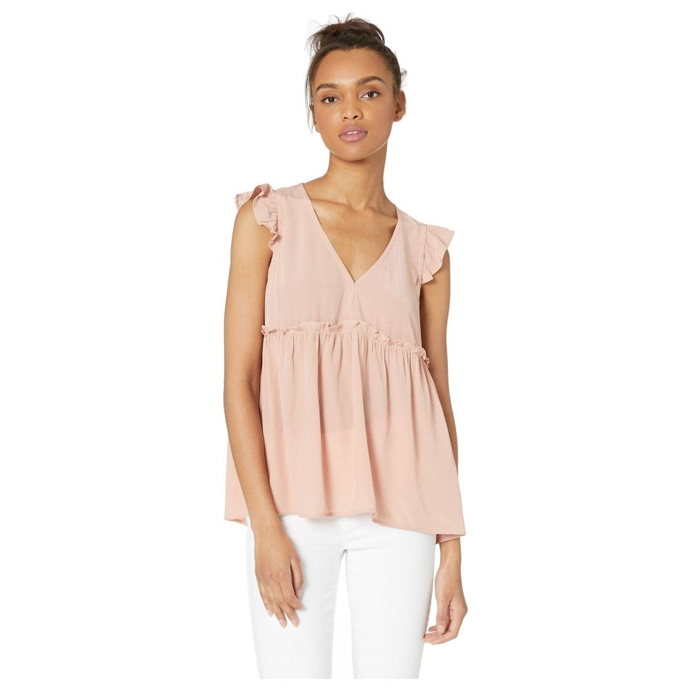 ミス ミー Miss Me レディース トップス ブラウス・シャツ【Empire Waist Flutter Short Sleeve Babydoll Top】Blush Pink