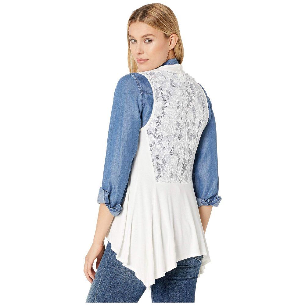 スカーリー Scully レディース トップス ベスト・ジレ【Lace Knit Vest】Ivory