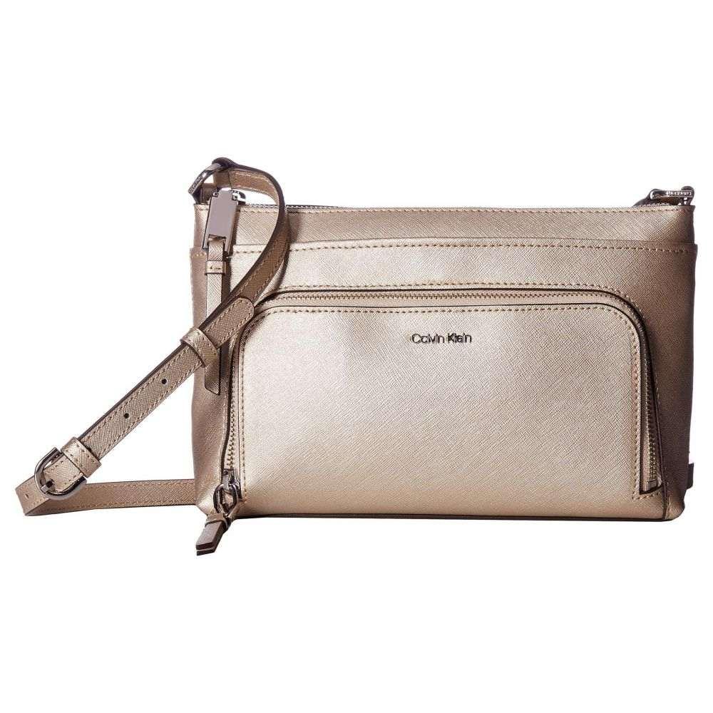 カルバンクライン Calvin Klein レディース バッグ ショルダーバッグ【Key Item Saffiano Leather Top Zip Crossbody】Buckwheat