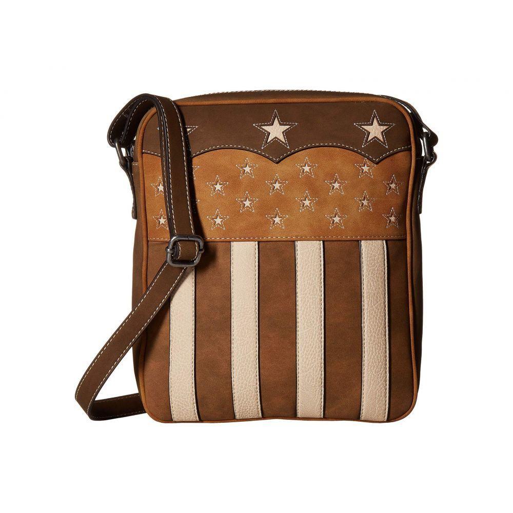 エムアンドエフ ウエスタン M&F Western レディース バッグ ショルダーバッグ【Lady Liberty Conceal & Carry Messenger】Brown