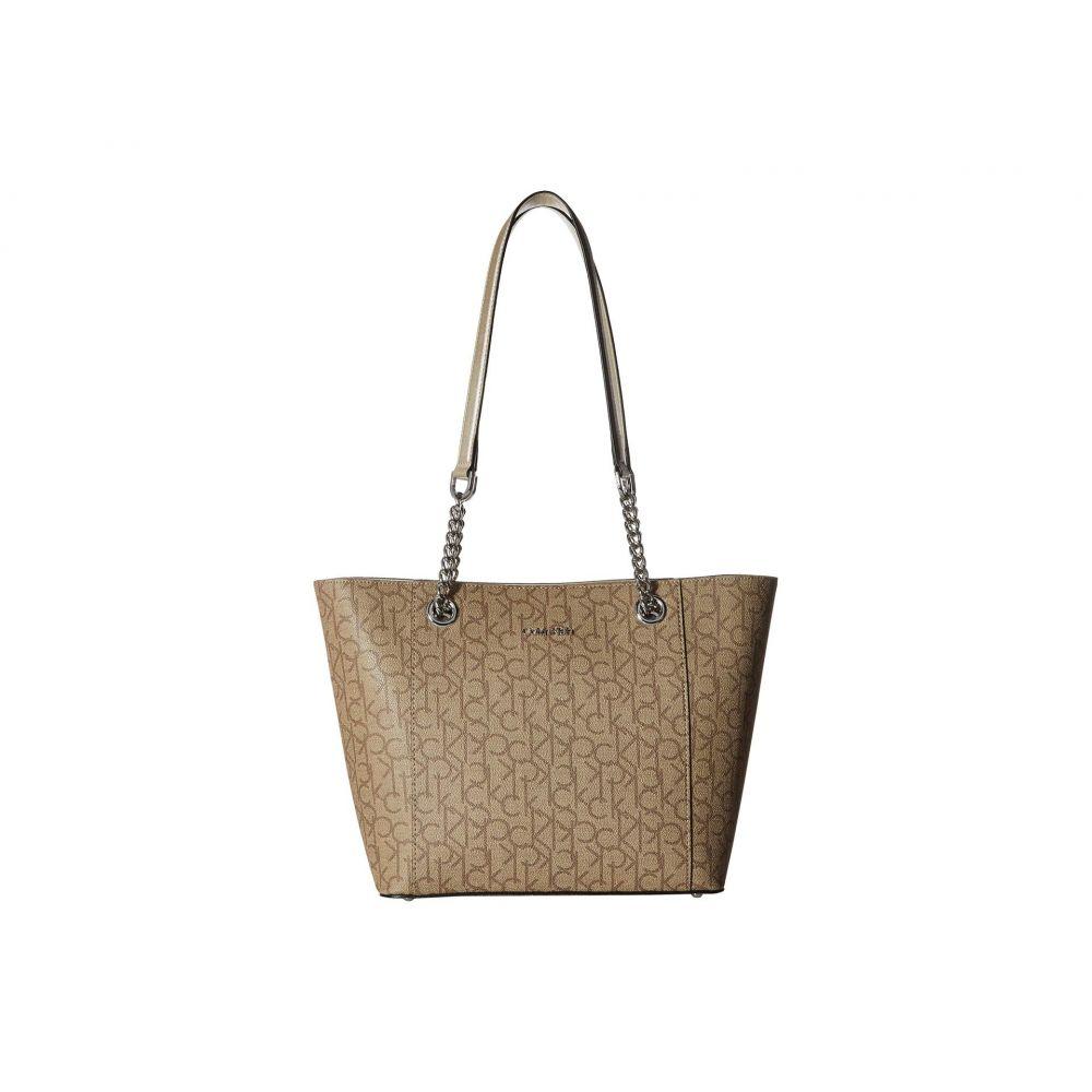 カルバンクライン Calvin Klein レディース バッグ トートバッグ【Monogram East/West Tote】Buckwheat