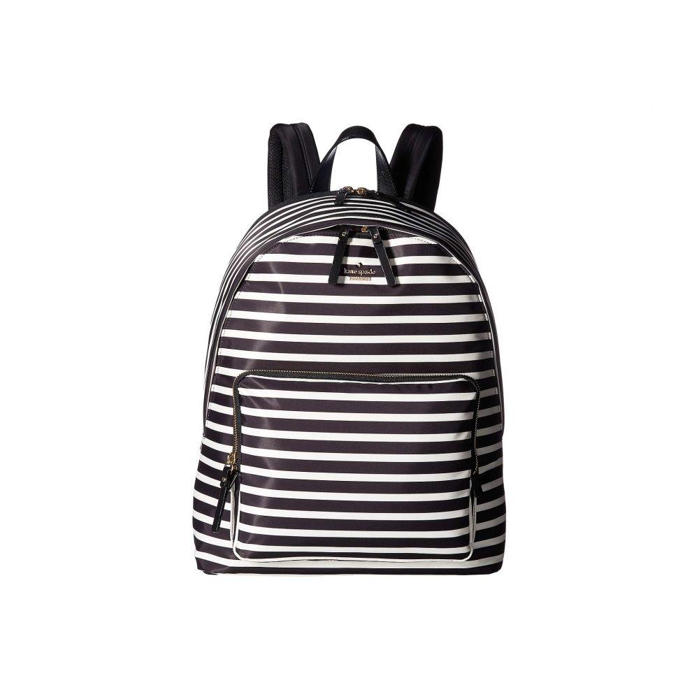 ケイト スペード Kate Spade New York レディース バッグ バックパック・リュック【15 Inch Nylon Tech Backpack】Black/Clotted Cream 1