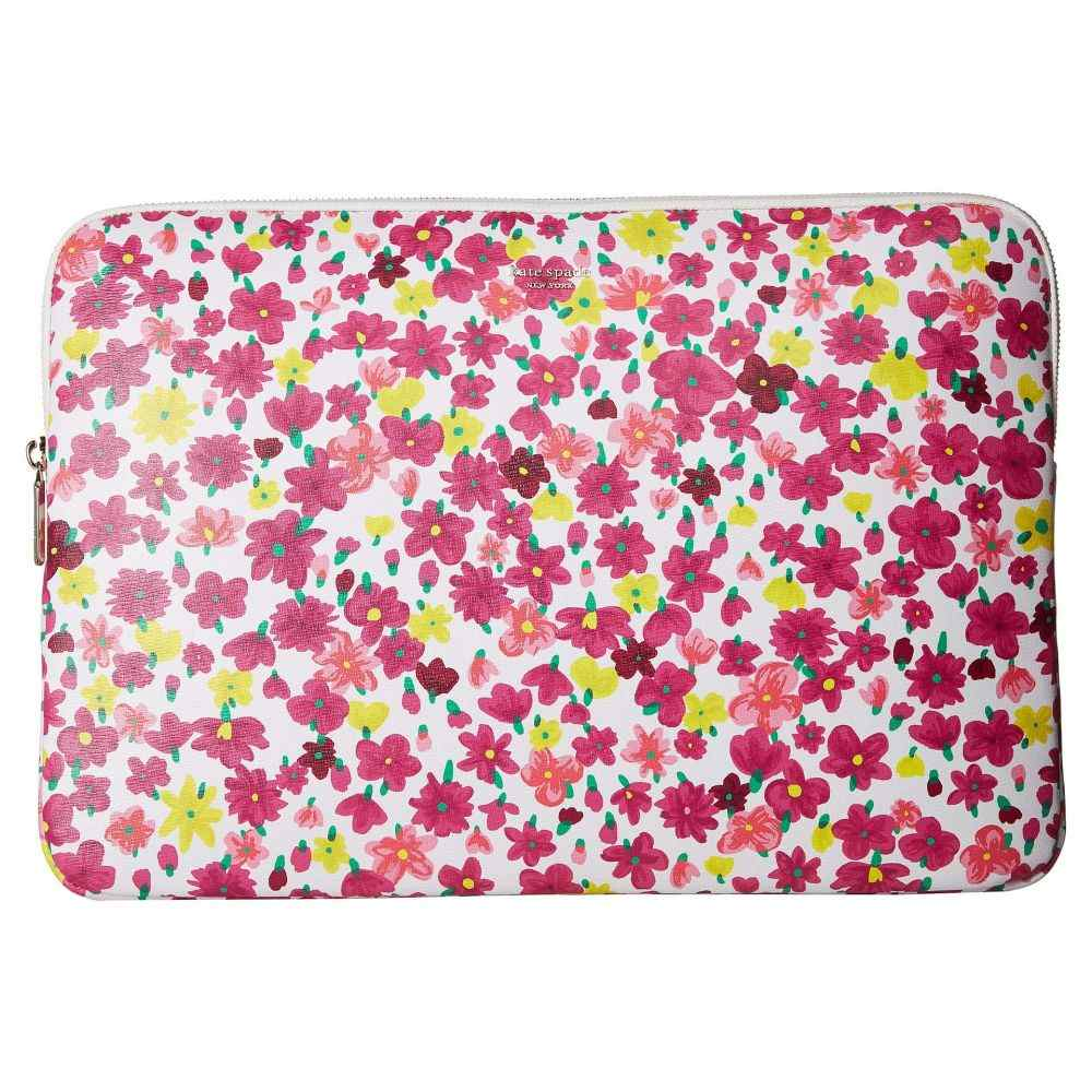 ケイト スペード Kate Spade New York レディース バッグ パソコンバッグ【Marker Floral Universal Laptop Sleeve】Optic White Multi