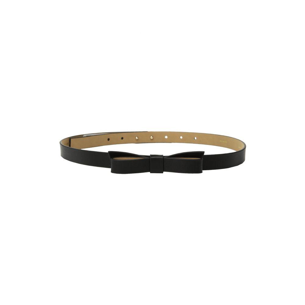 ケイト スペード Kate Spade New York レディース ベルト【3/4' Pebble Leather Bow Belt】Black