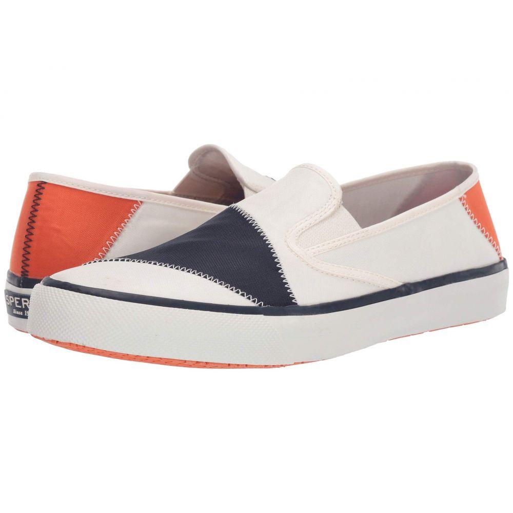 スペリー Sperry メンズ シューズ・靴 スリッポン・フラット【Captain's Slip-On Bionic】White/Navy/Orange
