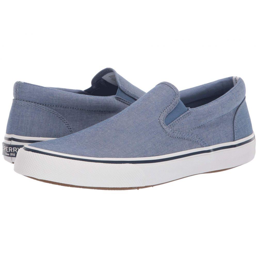 スペリー Sperry メンズ シューズ・靴 スリッポン・フラット【Striper II Slip-On Oxford Shirt】Blue