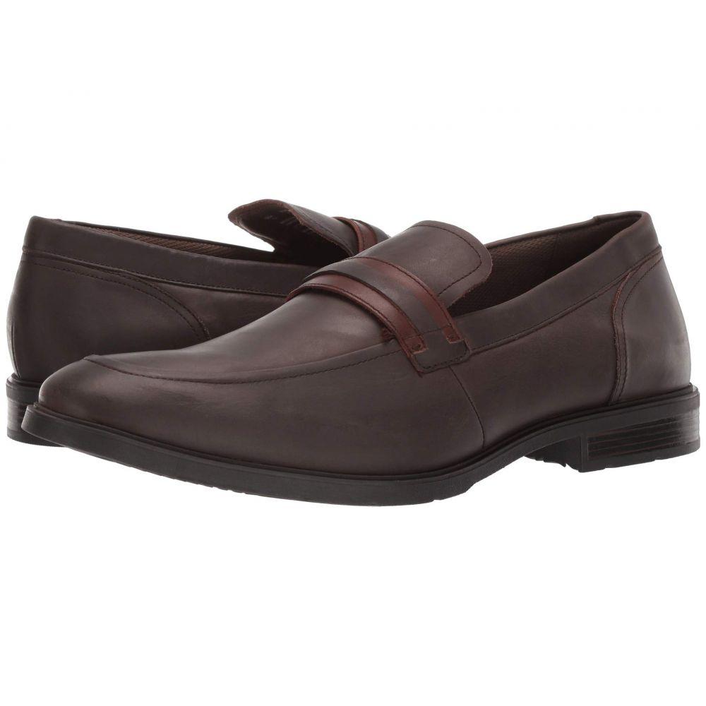 ハッシュパピー Hush Puppies メンズ シューズ・靴 スリッポン・フラット【Advice MT Slip-On】Dark Brown Leather