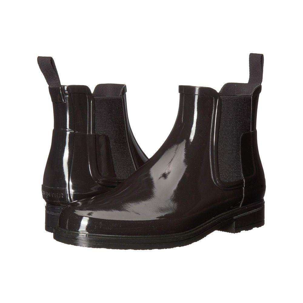 ハンター Hunter メンズ シューズ・靴 レインシューズ・長靴【Original Refined Chelsea Gloss】Black