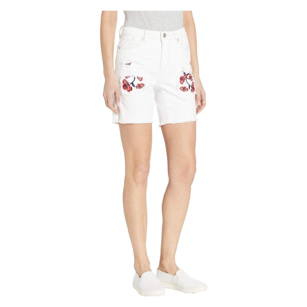 トリバル Tribal レディース ボトムス・パンツ ショートパンツ【Stretch Twill Distressed Shorts with Embroidered Pocketing】White