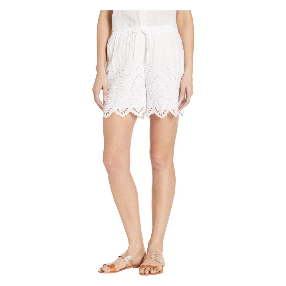 トリバル Tribal レディース ボトムス・パンツ ショートパンツ【Woven Challis Embroidered Pull-On Shorts】White