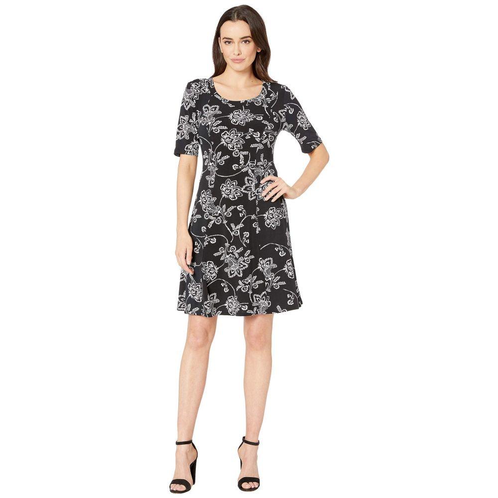 カレンケーン Karen Kane レディース ワンピース・ドレス ワンピース【Seamed A-Line Dress】Black/White
