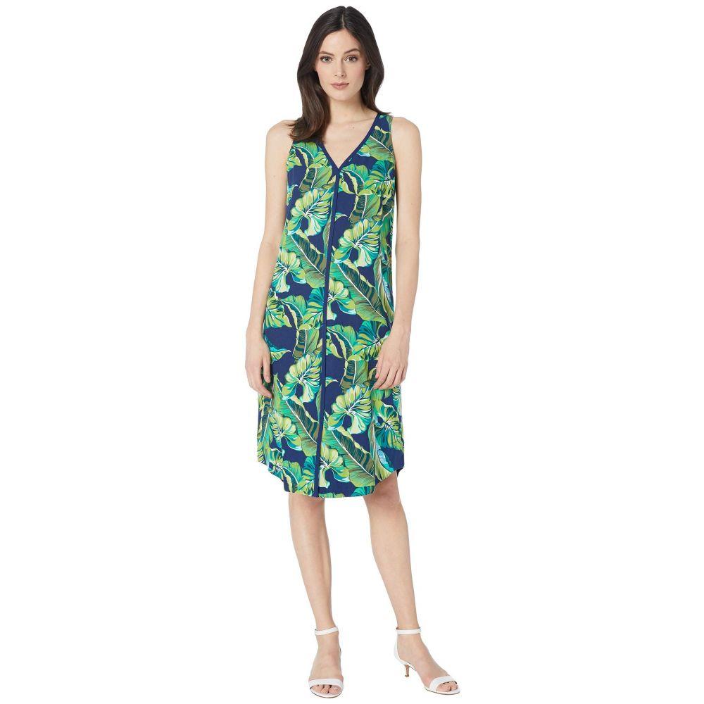 トミー バハマ Tommy Bahama レディース ワンピース・ドレス ワンピース【Lovely Leaves Midi Dress】Island Navy